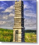Pennsylvania At Gettysburg - 91st Pa Veteran Volunteer Infantry - Little Round Top Spring Metal Print by Michael Mazaika