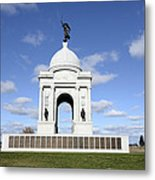 Pennsylvania Memorial At Gettysburg Battlefield Metal Print by Brendan Reals
