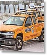 Pensacola Beach Lifeguards Metal Print by JC Findley