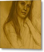 Pensive Metal Print by Colleen Gallo