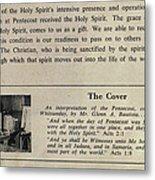 Pentecost By Glenn 1965 Metal Print by Glenn Bautista