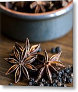 Pepper And Spice Metal Print by Anne Gilbert