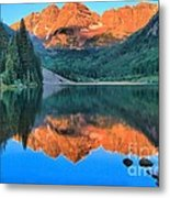 Perfect Reflections At The Bells Metal Print by Adam Jewell