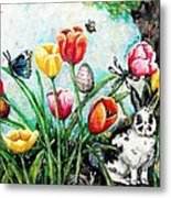 Peters Easter Garden Metal Print by Shana Rowe Jackson