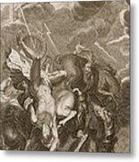Phaeton Struck Down By Jupiters Metal Print by Bernard Picart