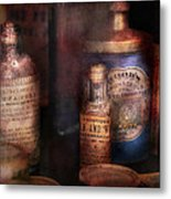 Pharmacist - Medicine For Diarrhea And Burns  Metal Print by Mike Savad