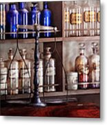 Pharmacy - Apothecarius  Metal Print by Mike Savad