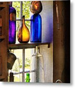 Pharmacy - Colorful Glassware  Metal Print by Mike Savad