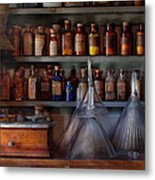 Pharmacy - Master Of Many Trades  Metal Print by Mike Savad