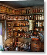 Pharmacy - Medicinal Chemistry Metal Print by Mike Savad