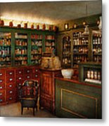 Pharmacy - Patent Medicine  Metal Print by Mike Savad