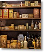 Pharmacy - Quick I Need A Miracle Cure Metal Print by Mike Savad