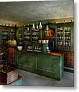 Pharmacy - The Chemist Shop  Metal Print by Mike Savad
