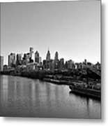 Philadelphia Black And White Metal Print by Bill Cannon