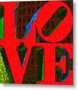 Philadelphia Love - Painterly V1 Metal Print by Wingsdomain Art and Photography