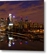 Philadelphia On The Schuylkill At Night Metal Print by Bill Cannon