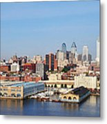 Philadelphia River View Metal Print by Bill Cannon