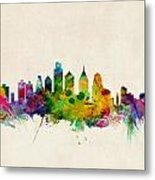 Philadelphia Skyline Metal Print by Michael Tompsett