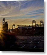 Phillies Citizens Bank Park At Dawn Metal Print by Bill Cannon