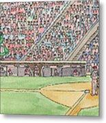 Phillies Game Metal Print by Cee Heard