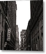 Philly Street Metal Print by Olivier Le Queinec