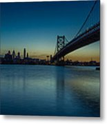 Philly Sunset Metal Print by David Hahn