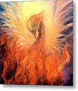 Phoenix Rising Metal Print by Marina Petro