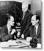 Physicists Brattain, Bardeen And Metal Print by Science Photo Library