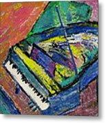 Piano Blue Metal Print by Anita Burgermeister