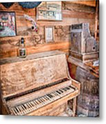 Piano Man Metal Print by Cat Connor