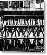 Picture Of Natchez Steamboat Paddle Wheel In New Orleans Metal Print by Paul Velgos
