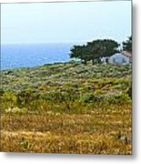 Piedras Blancas Lighthouse Near San Simeon And Cambria Along Hwy 1 In California Metal Print by Artist and Photographer Laura Wrede