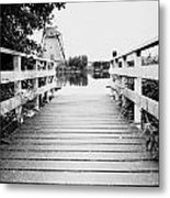 Pier At Kinderdjik Metal Print by Ivy Ho