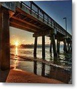Pier Sunrise Metal Print by Michael Thomas