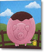 Pig Nursery Art Metal Print by Christy Beckwith