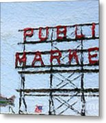 Pike Place Market Metal Print by Linda Woods