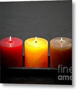 Pillar Candles Metal Print by Olivier Le Queinec