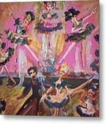 Pink Apple Waltz Metal Print by Judith Desrosiers