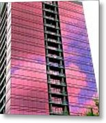 Pink Glass Buildings Can Be Pretty Metal Print by Randall Weidner