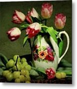 Pink In A Pitcher Metal Print by Diana Angstadt