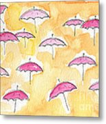 Pink Umbrellas Metal Print by Linda Woods