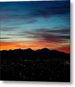 Pintler Sunset  Metal Print by Kevin Bone