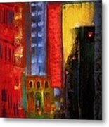Pioneer Square Alleyway Metal Print by David Patterson
