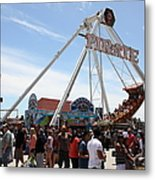Pirate Ship At The Santa Cruz Beach Boardwalk California 5d23854 Metal Print by Wingsdomain Art and Photography
