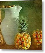 Pitcher With Pineapples Metal Print by Diana Angstadt