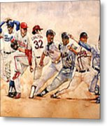 Pitching Windup  Metal Print by Michael  Pattison