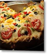Pizza Pie - 5d20700 Metal Print by Wingsdomain Art and Photography