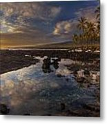 Place Of Refuge Sunset Reflection Metal Print by Mike Reid