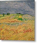 Plain At Auvers Metal Print by Vincent Van Gogh