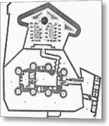 Plan Of The Bastille Metal Print by Granger